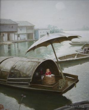 zeitgenössische kunst von Li Jiahui - Household living on the water