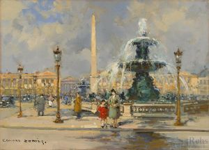 Fountain on place de la concorde 1