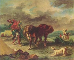 The moroccan and his horse 1857