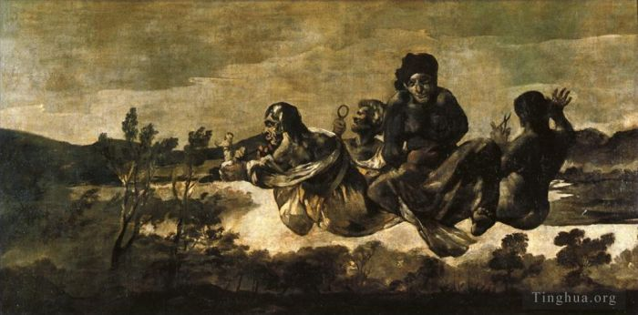 Francisco Goya Ölgemälde - Atropos The Fates
