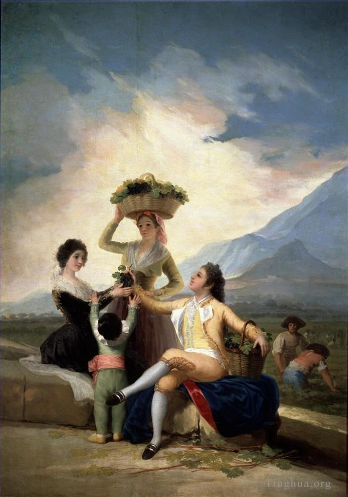 Francisco Goya Ölgemälde - Autumn or The Grape Harvest