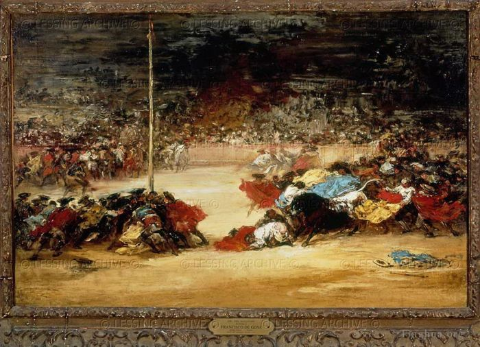 Francisco Goya Ölgemälde - Bullfight