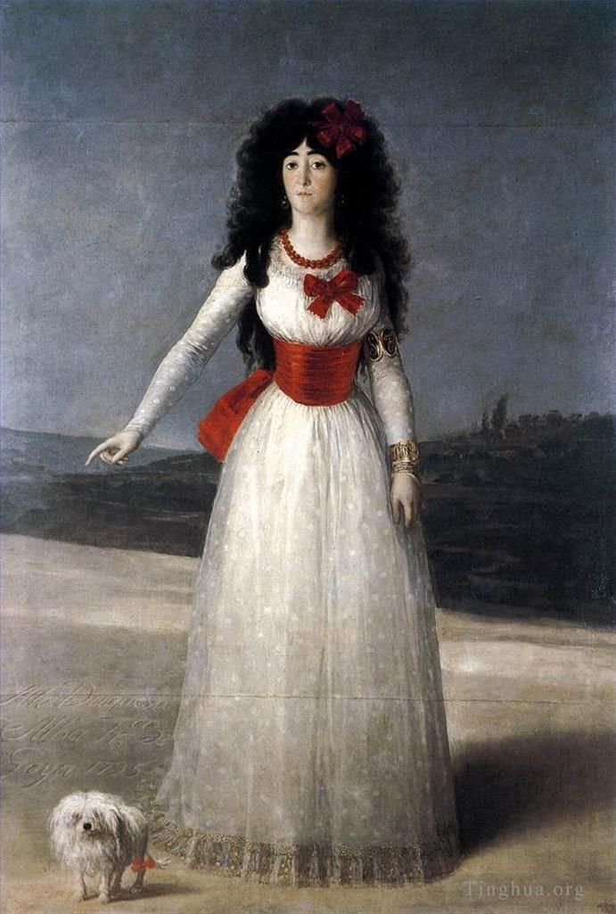 Francisco Goya Ölgemälde - Duchess of Alba