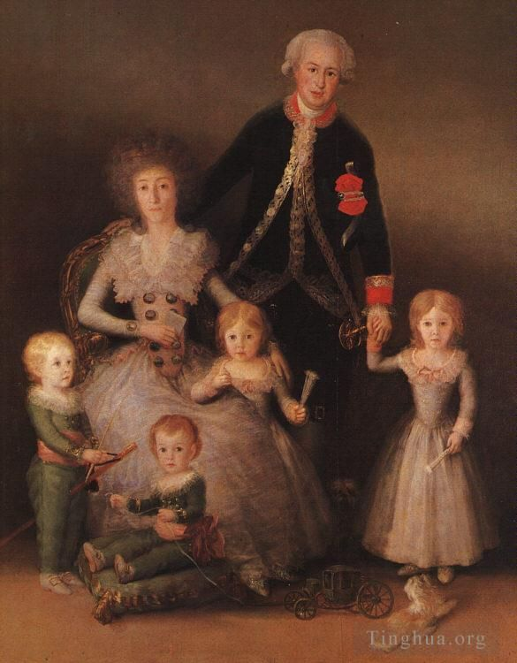 Francisco Goya Ölgemälde - The Duke and Duchess of Osuna and their Children