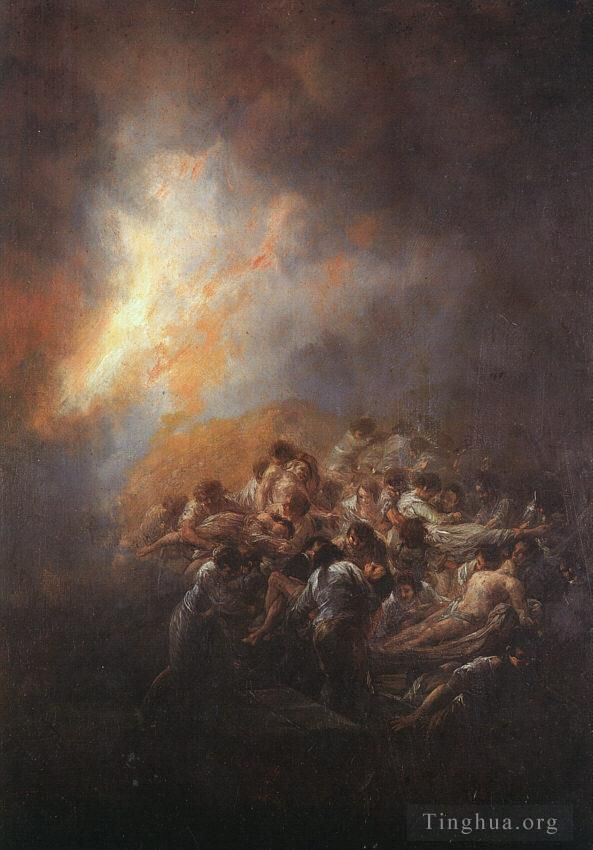 Francisco Goya Ölgemälde - The Fire