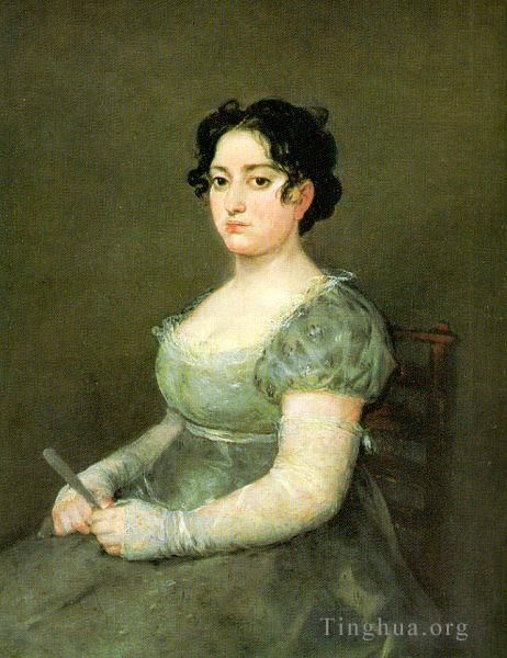 Francisco Goya Ölgemälde - The Woman with a Fan