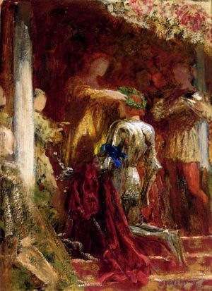 Victory A Knight Being Crowned With A Laurel Wreath