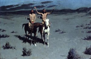 Pretty Mother of the Night Old American West cowboy Indian Frederic Remington