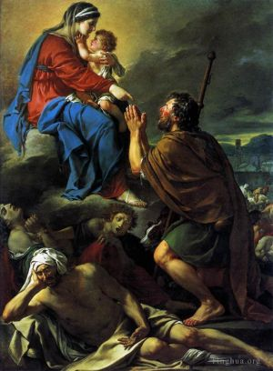 St Roch Asking the Virgin Mary to Heal Victims of the Plague