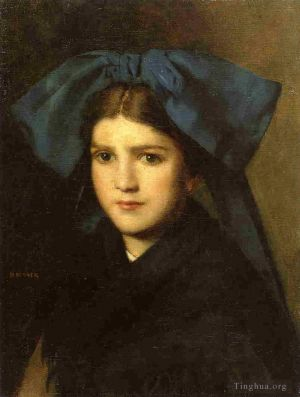 Portrait of a Young Girl with a Bow in Her Hair
