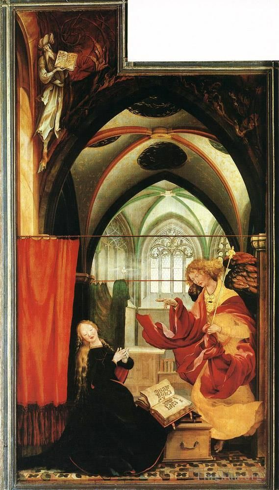 Matthias Grünewald Ölgemälde - The Annunciation