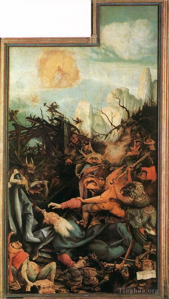 Matthias Grünewald Ölgemälde - The Temptation of St Antony